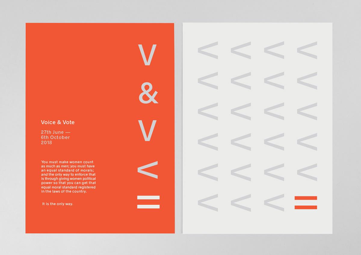 visual identity identity Voice&vote Event Exhibition