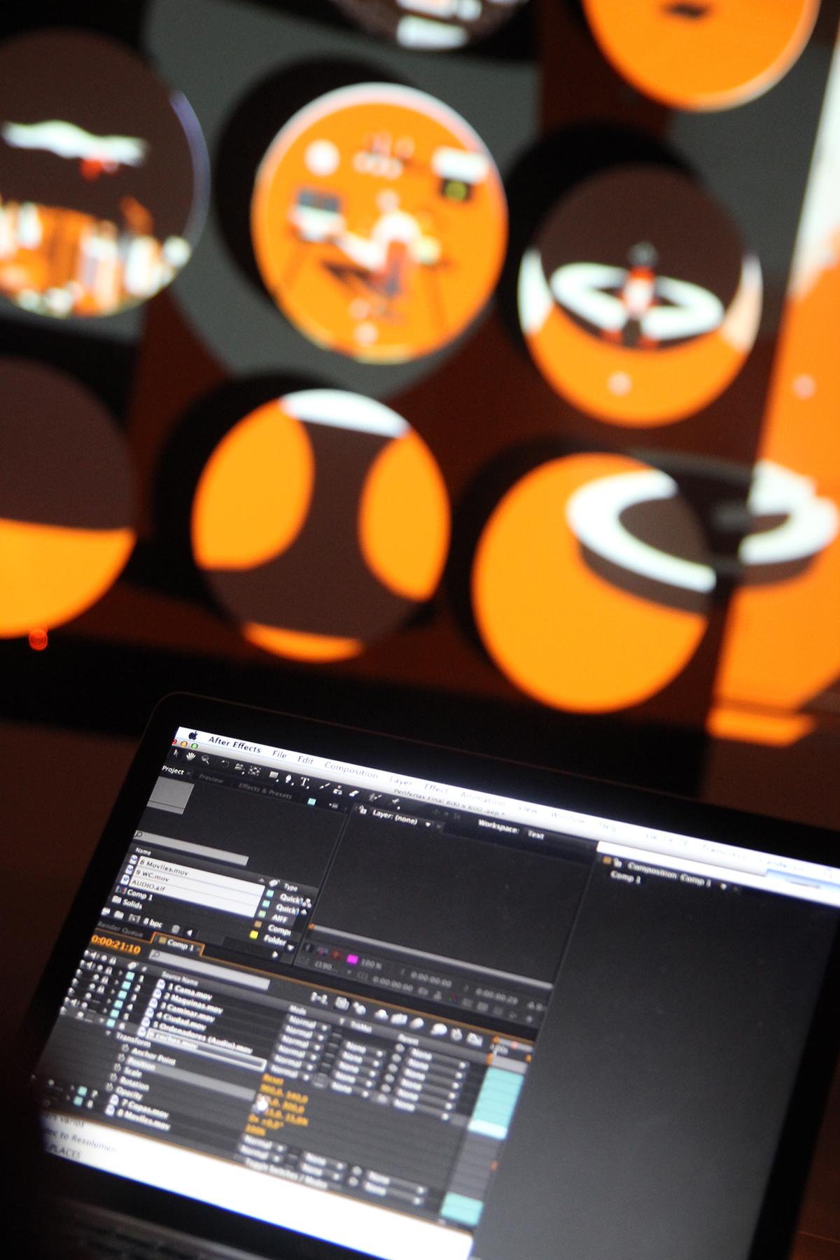 motion graphics videomapping cádiz ECCO finde