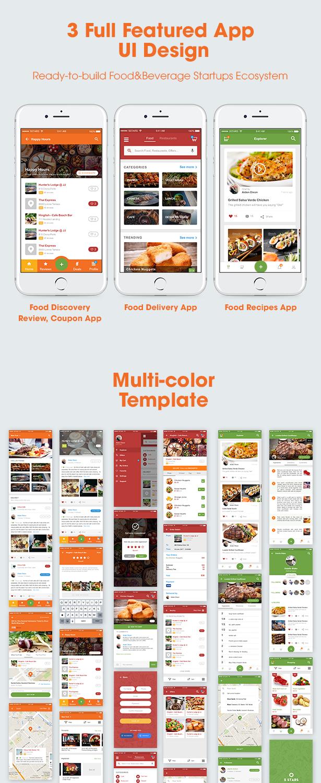5Stars - Mobile UI KIT for Food & Beverage App Ecosystem - 1