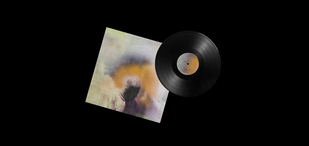 Album branding  collage composition cover editorial music photoshop typography   vinyl