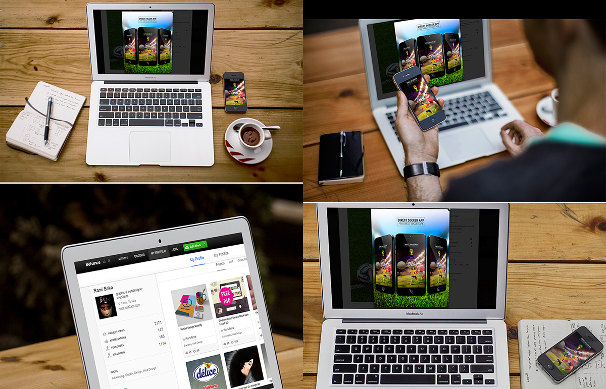 responsive showcase mockup free psd on behance, Powerpoint templates