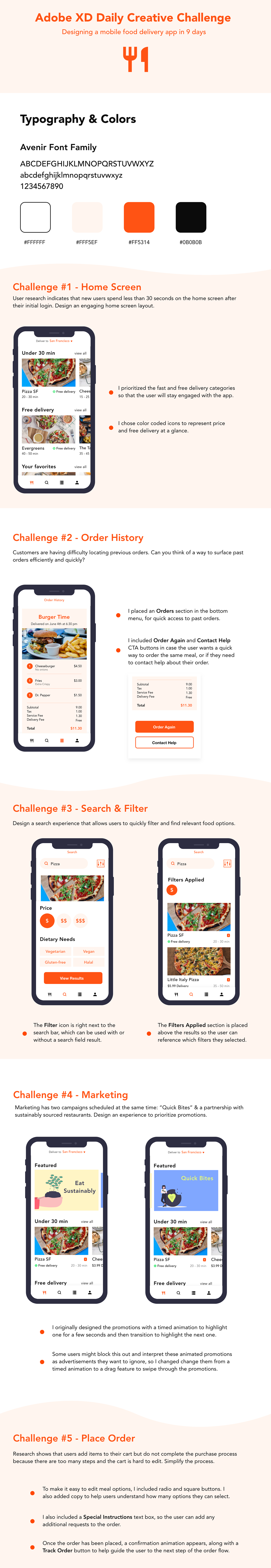 xddailychallenge MadeWithAdobeXd UI ux Food  delivery app