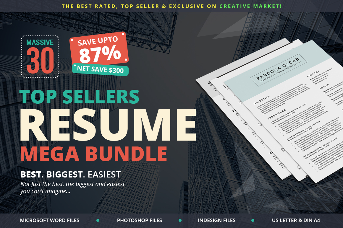 top sellers resume mega bundle on behance
