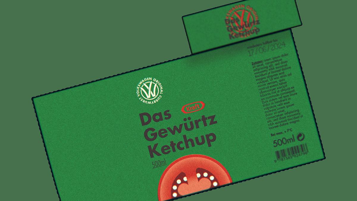 Volkswagen Heinz Ketchup label design