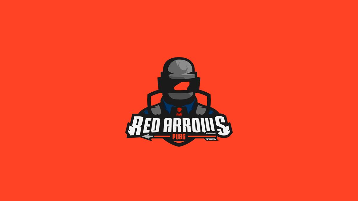 Red Arrows Mascot Logo Design On Pantone Canvas Gallery
