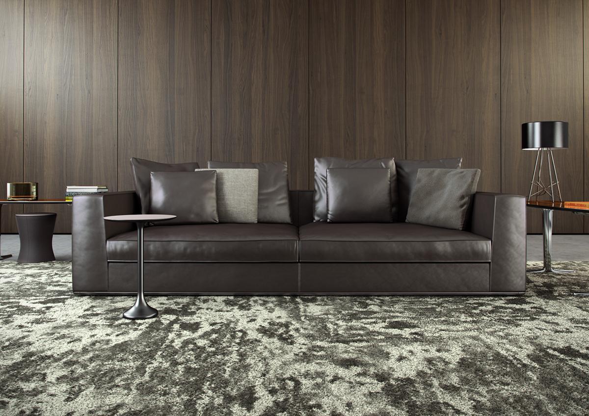 Minotti | Powell 112 Sofa 3D Model on Behance