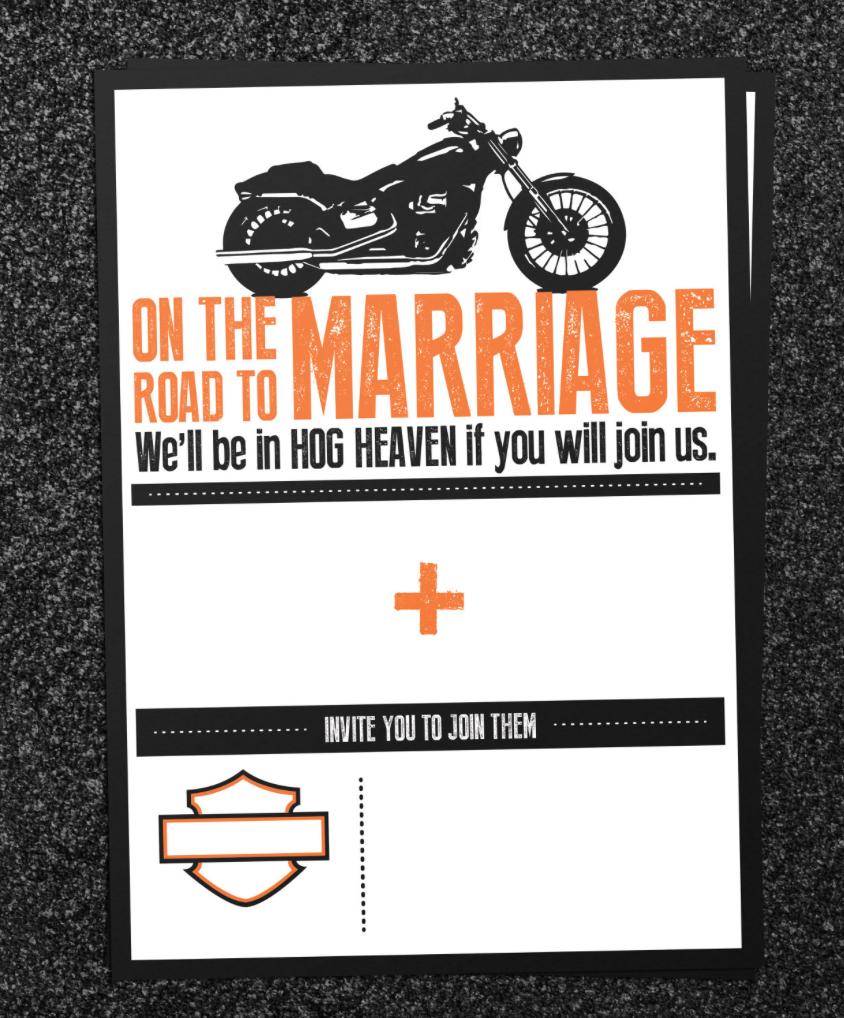 DIY Biker Wedding Invitation Set on Behance