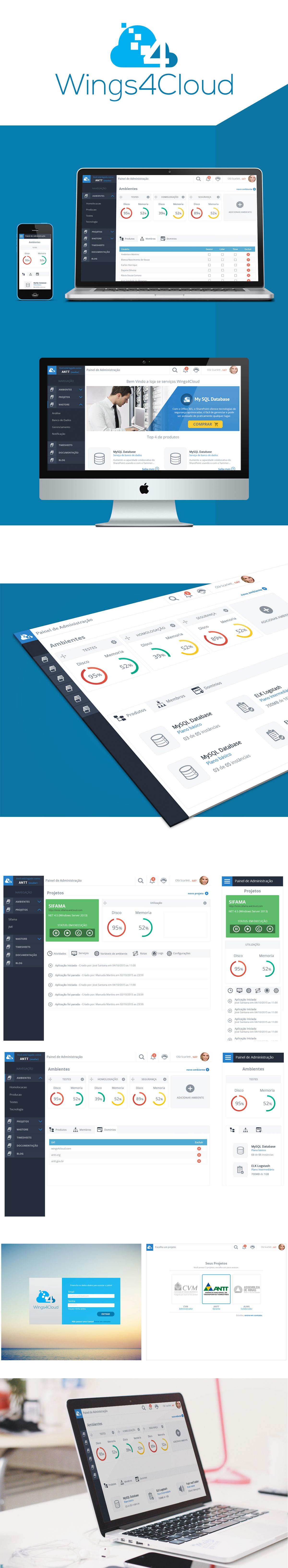 dashboard mobile app Web service cloud designer ux UI