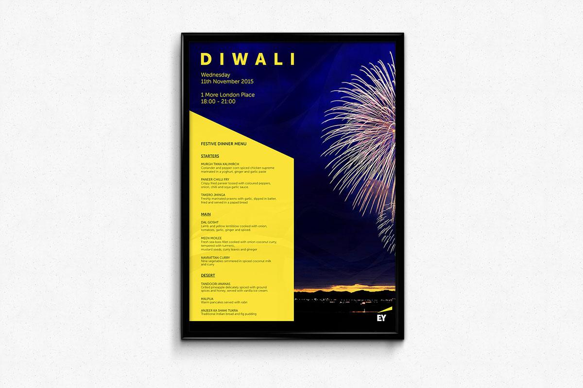 diwali 3 fold poster on behance