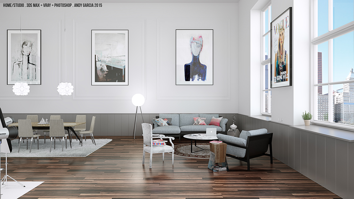 3d Interior Design Rendering On Behance
