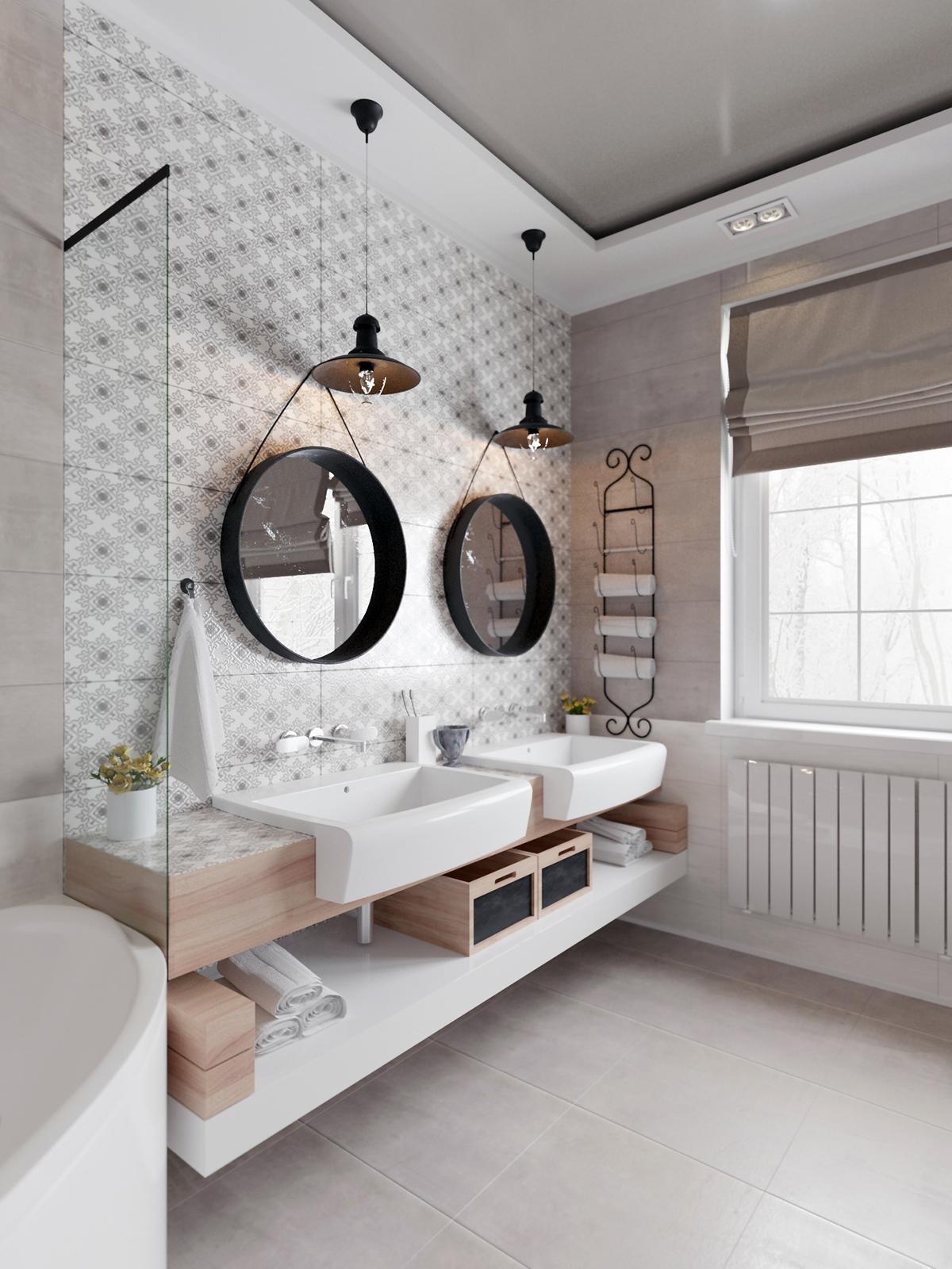 3D design Interior bathroom visualization