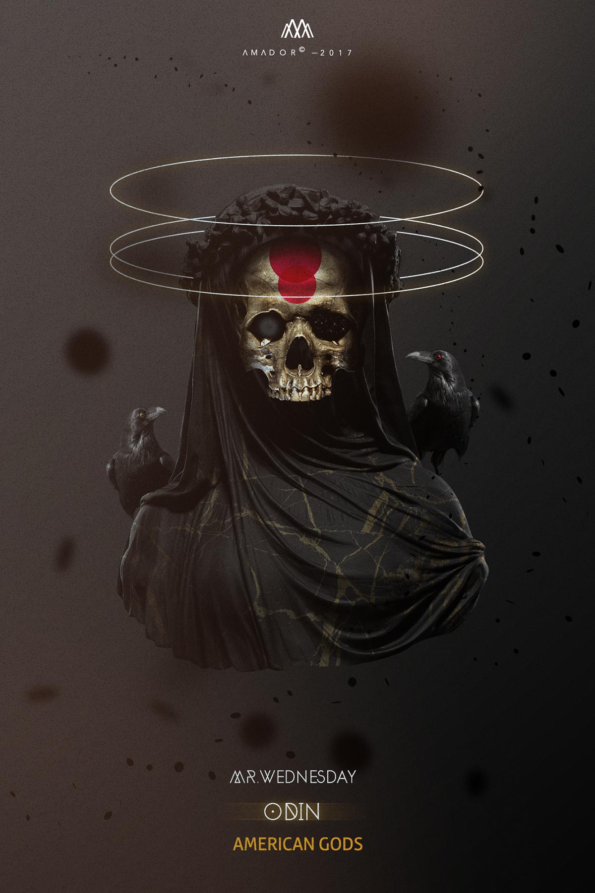 American Gods Concept Art on Wacom Gallery