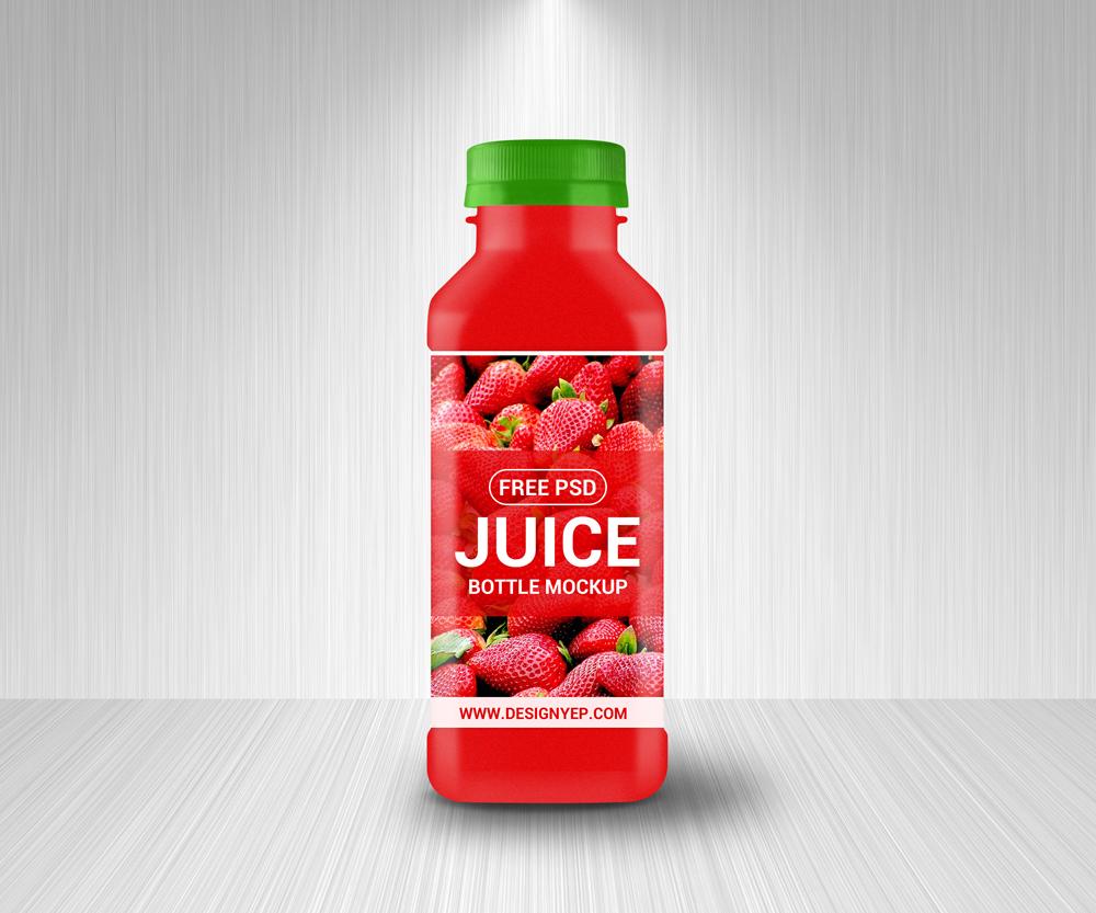 free juice bottle mockup psd on behance