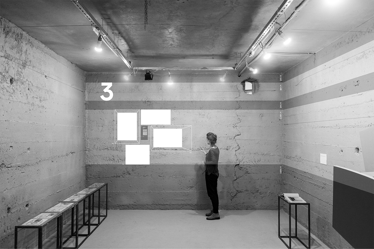 re_konstrukció Exhibition  concrete timeline Spray painting grid Layout