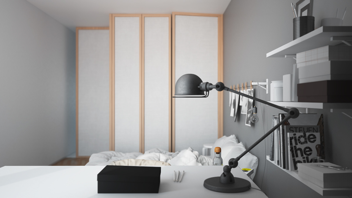 Interior rendering Fly-through 3ds max V-ray