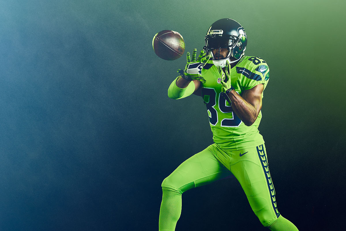 pretty nice 90560 19b55 nfl seahawks color rush jersey