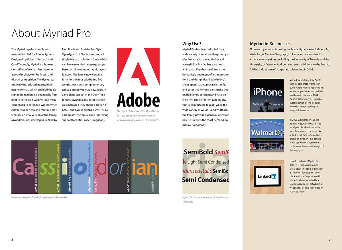 Myriad Pro Brochure on Behance