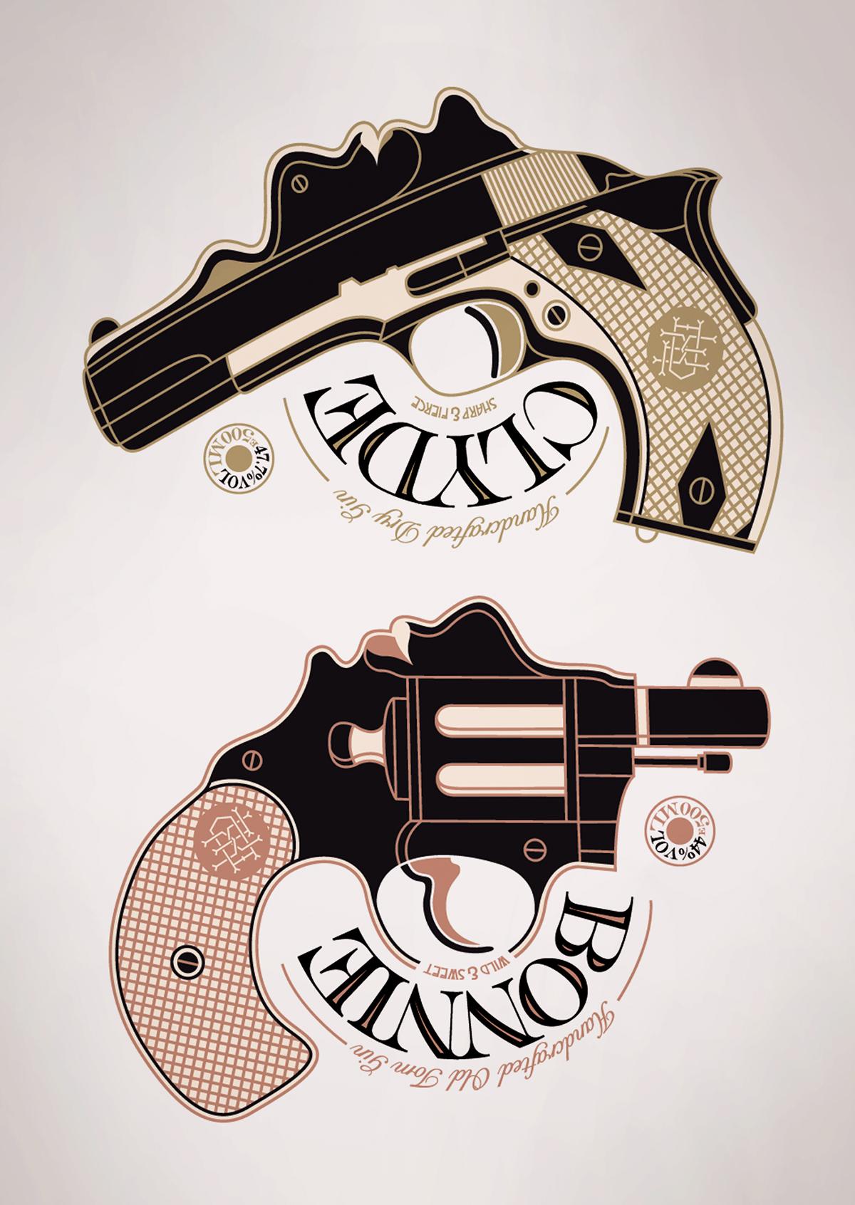 Bonnie And Clyde Tattoo: Bonnie & Clyde Gin On Behance