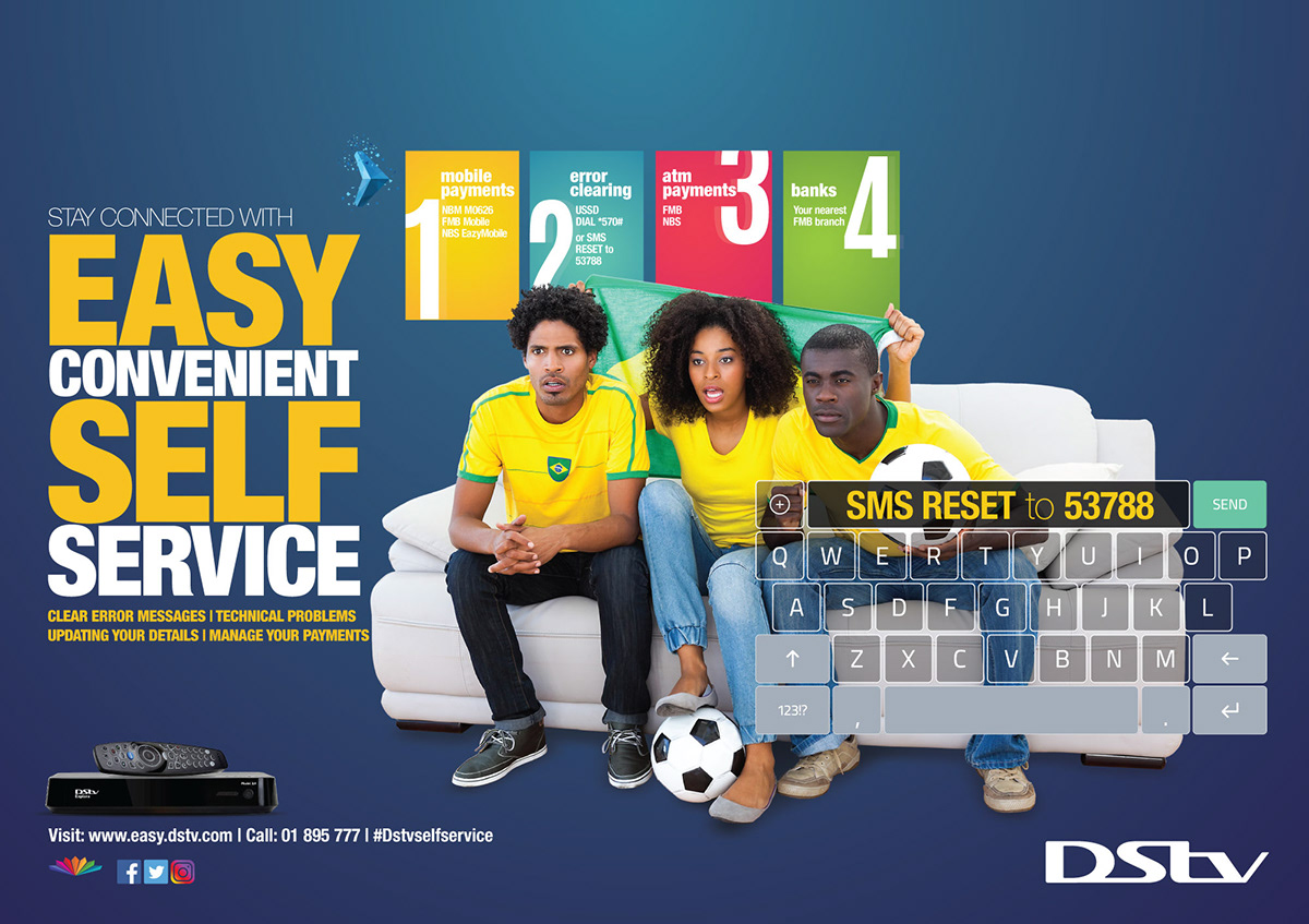 DSTV Malawi Self Service Campaign on Pantone Canvas Gallery