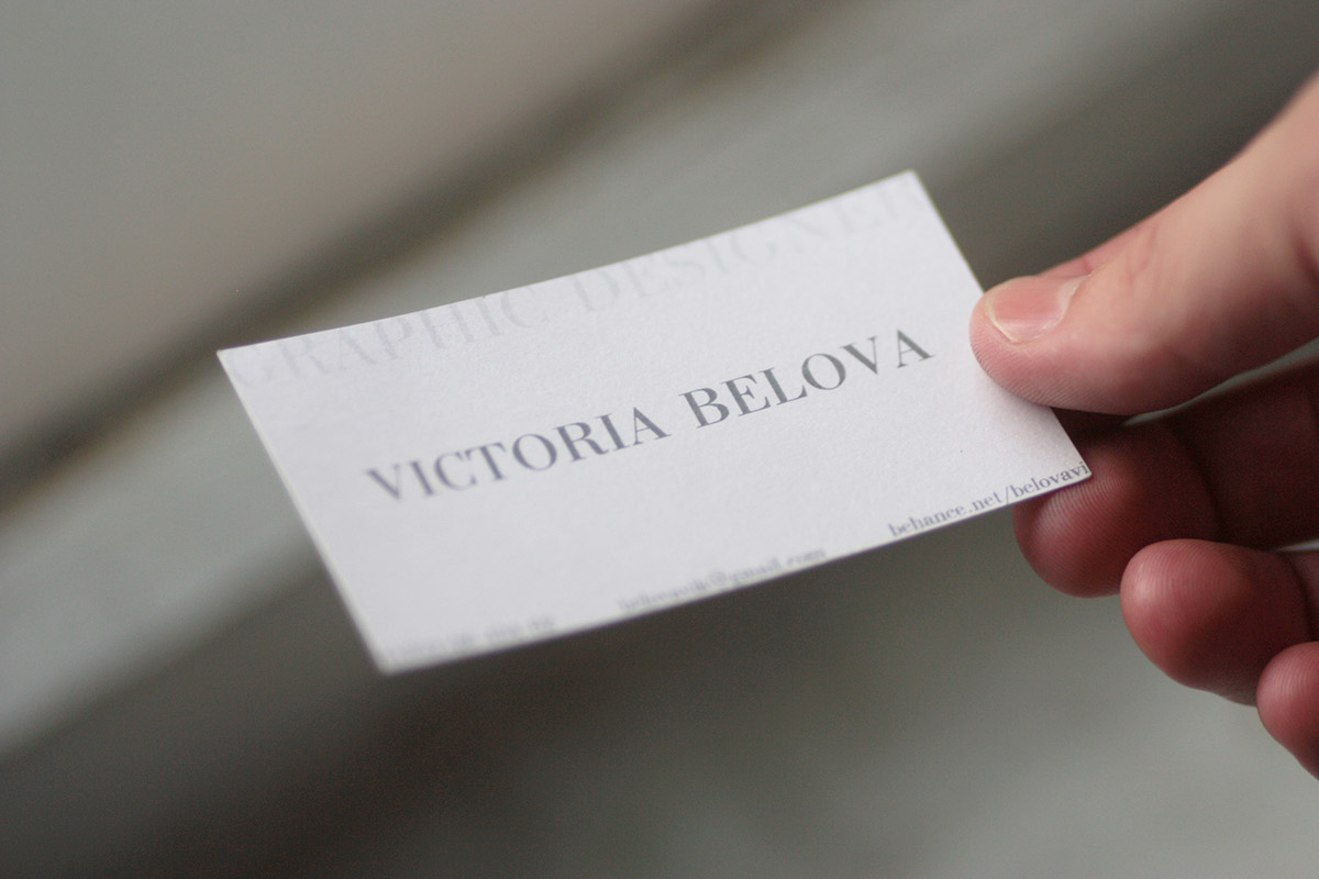 Business card on behance this is a trial version of business cards printed on two types of paper translucent vellum and pearlescent white paper 300gm2 colourmoves