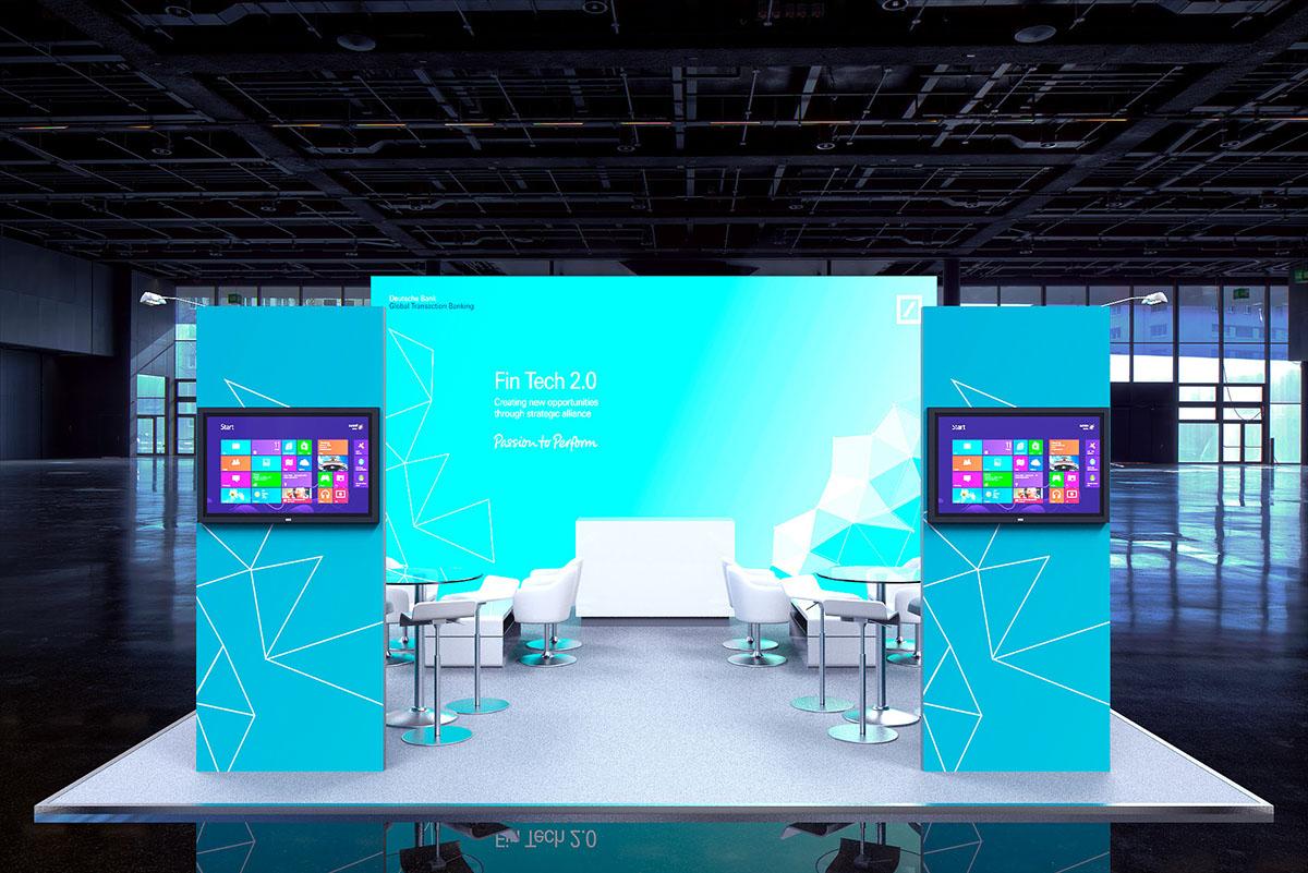 Modular Exhibition Stand Quotes : Deutsche bank modular exhibition stand on behance