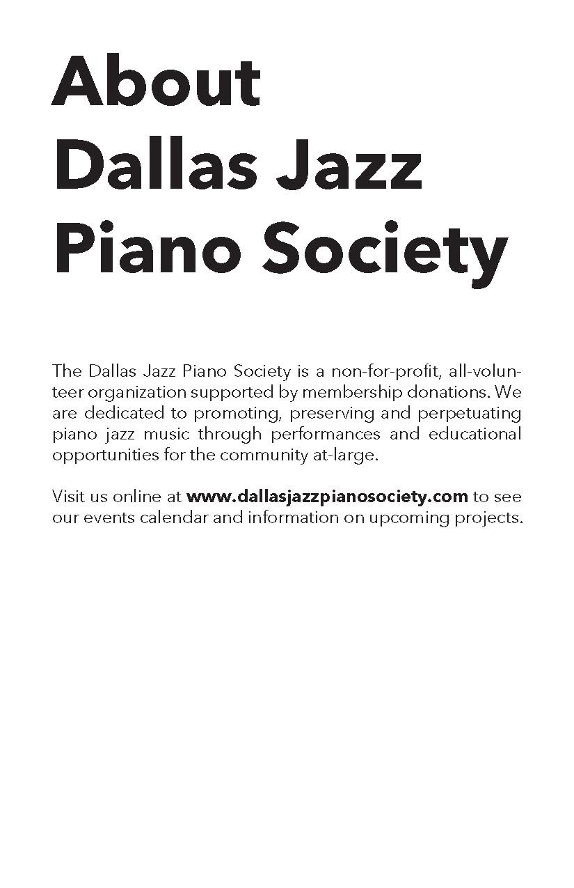 Dallas Jazz Piano Society on Behance