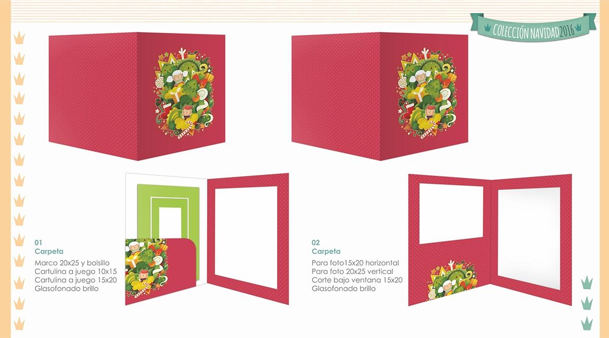 Carpeta navidad ilustración infantil
