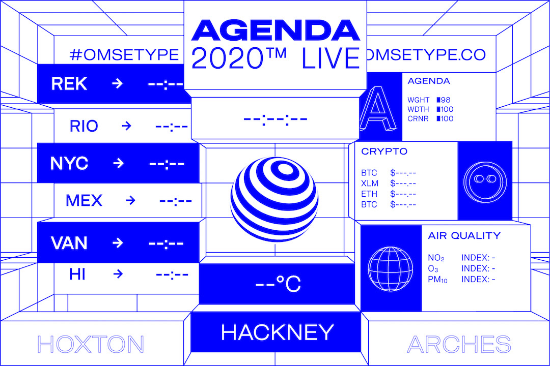 agenda 2020 omsetype variable 3D poster augmented reality AR motion typography   interactive