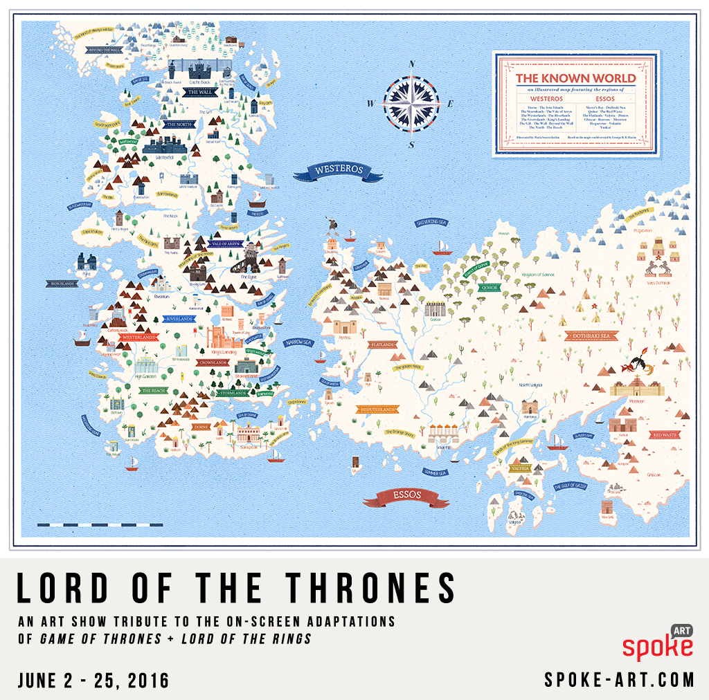 Game of Thrones sigils and illustrated map on Behance Game Of Thrones Map Essos on