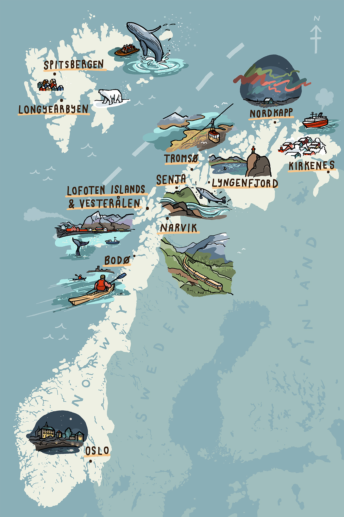 The Independent Northern Norway Map on Behance