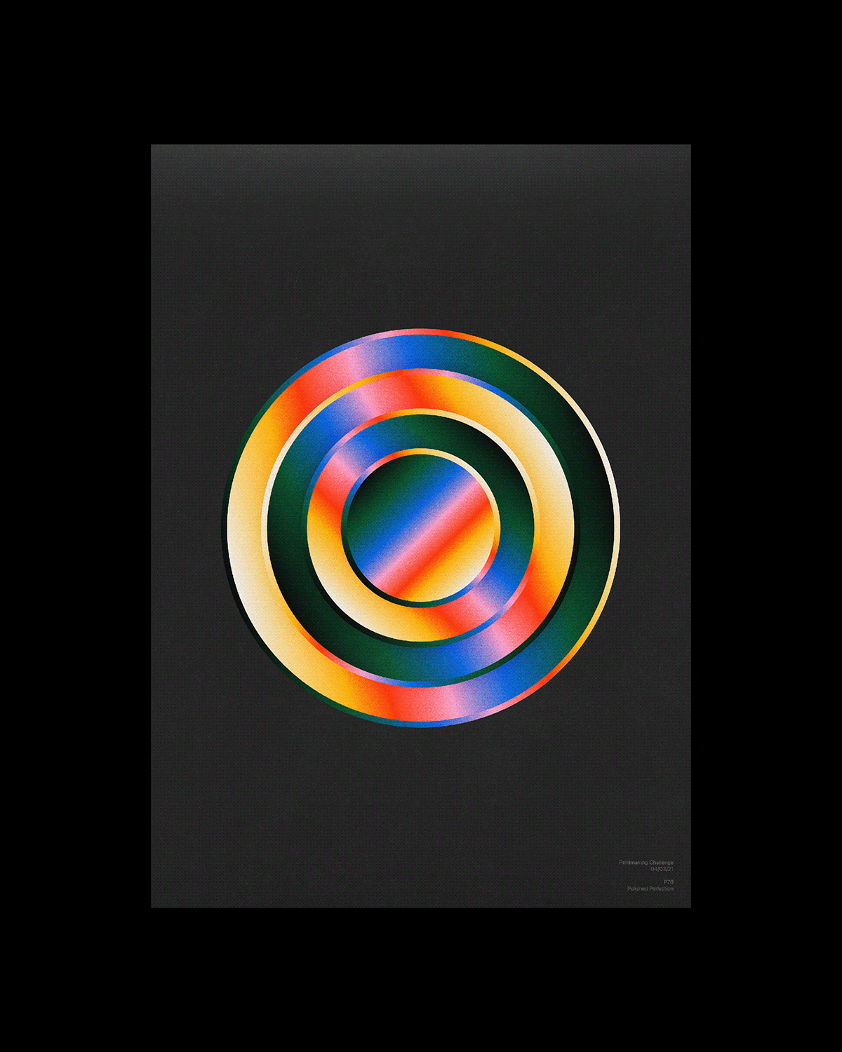 abstract art challenge color contemporary geometric poster print typography   visual