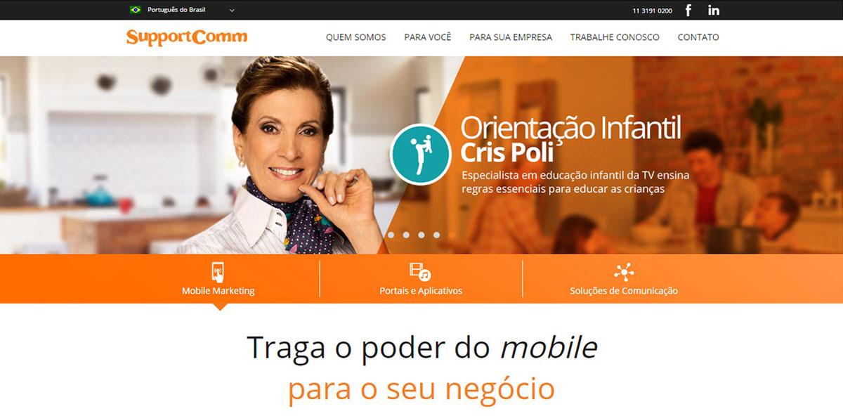 Site Institucional - SupportComm