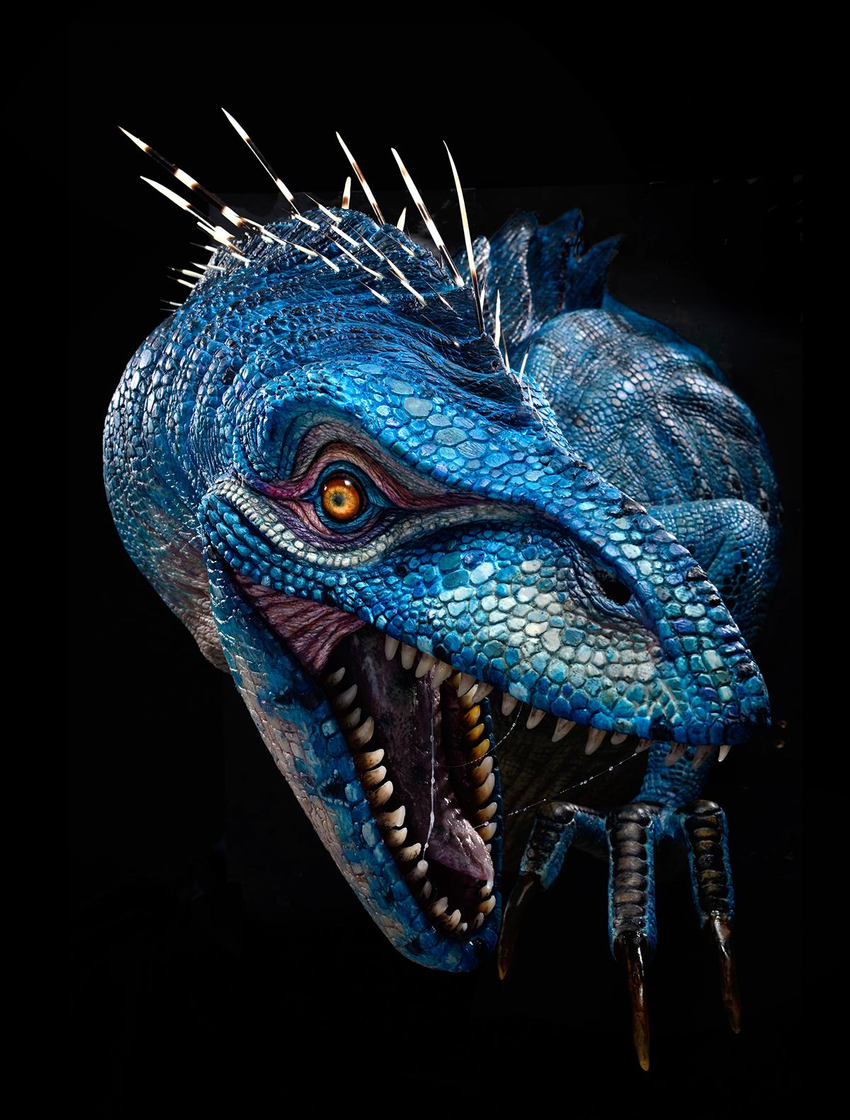 blue raptor on behance