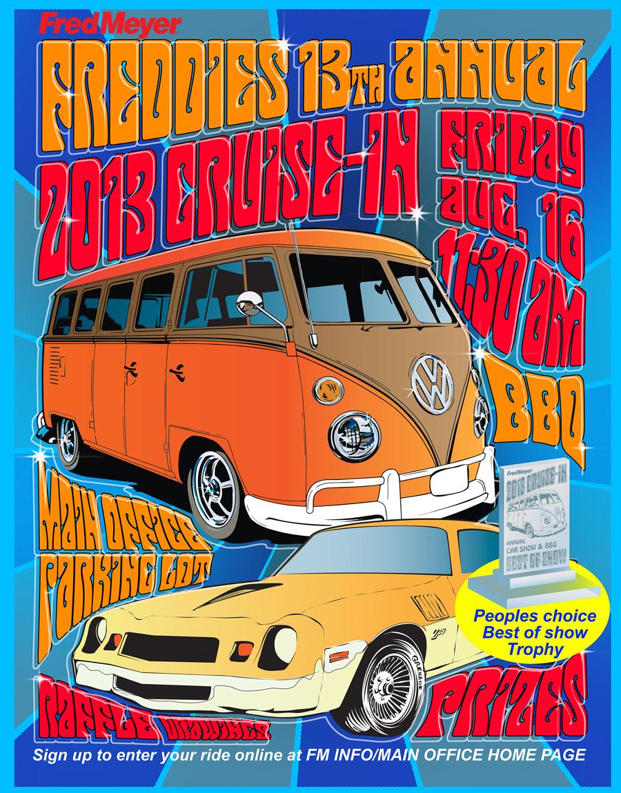 car Show car show Fred Meyer trophy lazer laser 60's hippie hippy a960's