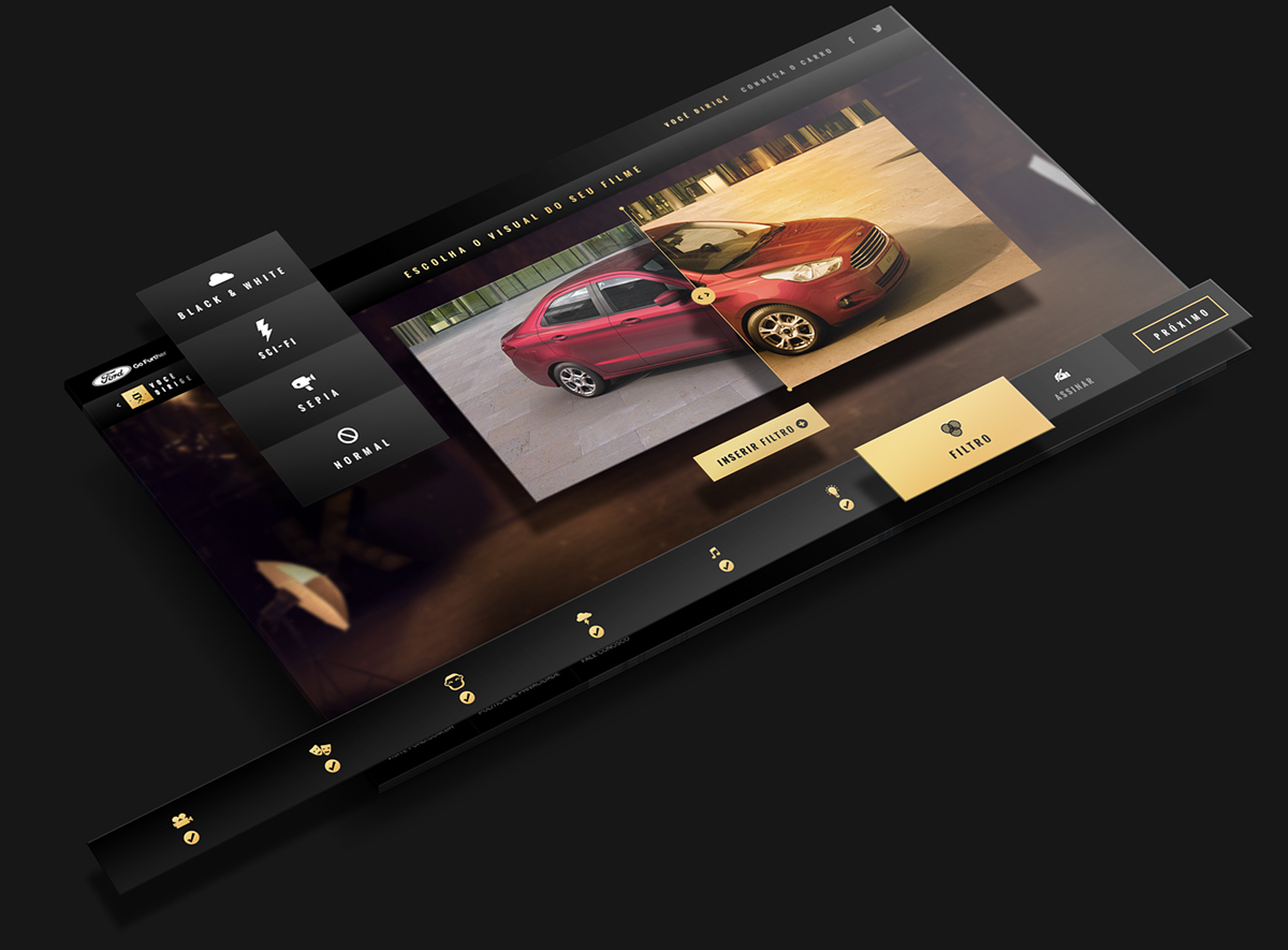 Ford automotive   ka new ka novo ka interactive poster mobile Interface car