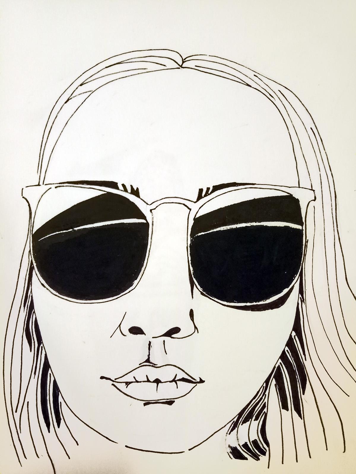 Illustrated Self Portrait Week 3