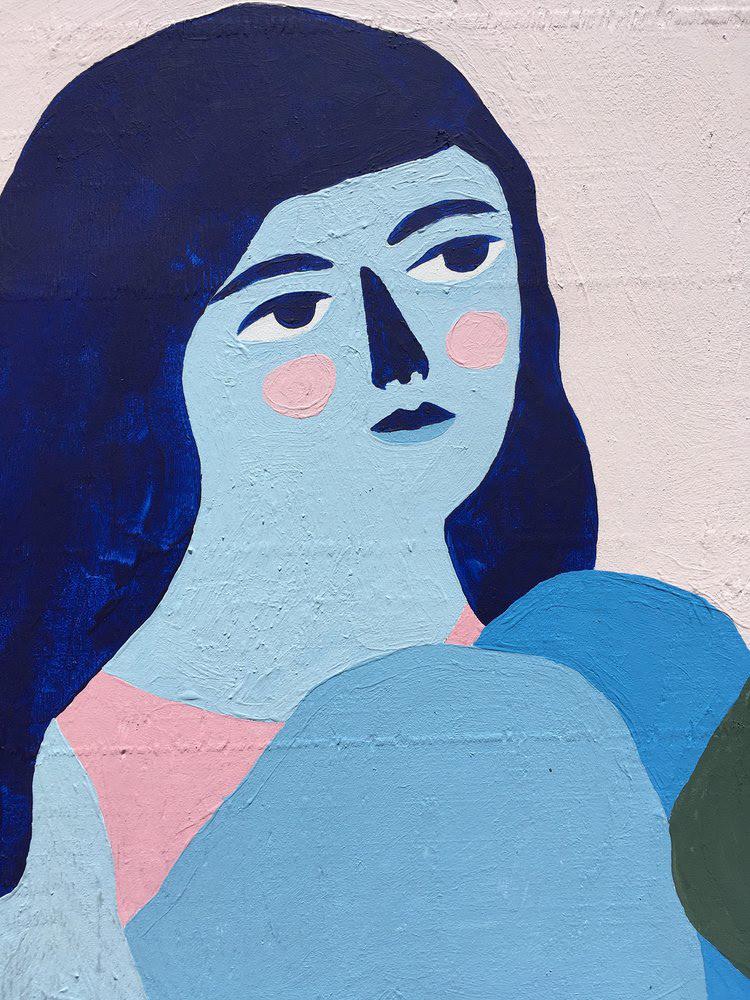Mural panting Montreal ILLUSTRATION  flower women Street Art  festival