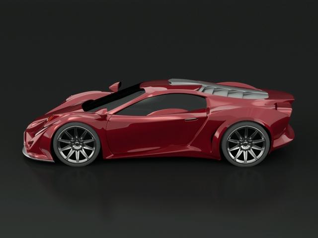 car Vehicle futuristic concept design coupe Racing car design computer graphics exona concept