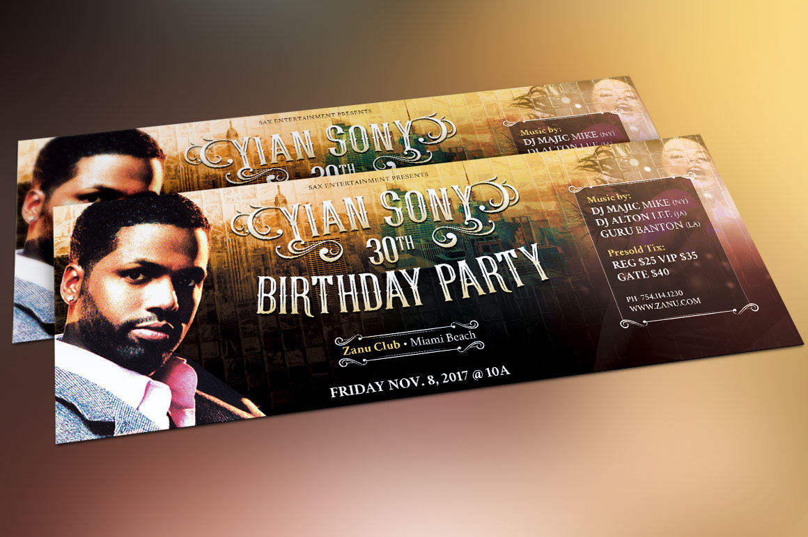 hipster birthday party flyer template on behance