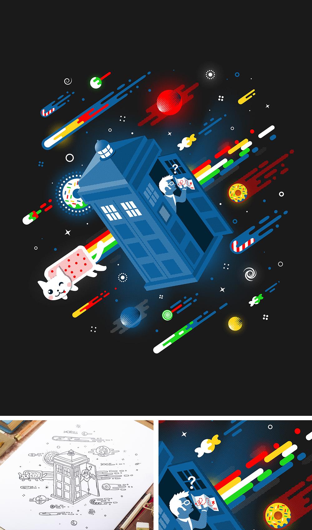 Fan Art,hyperlixir,Parody,mashup,nyan cat,Doctor Who,Green Lantern,razer,aya,rurouni kenshin,sailor moon,Chrono Trigger,print,shirt