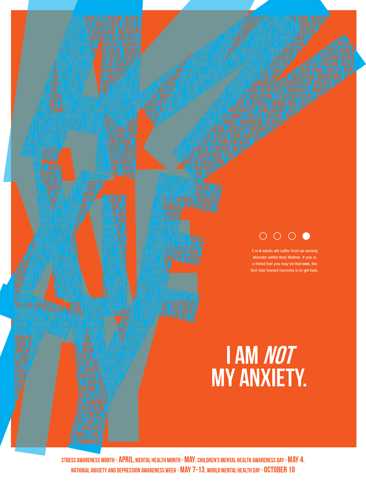 anxiety and mental health awareness poster on behance
