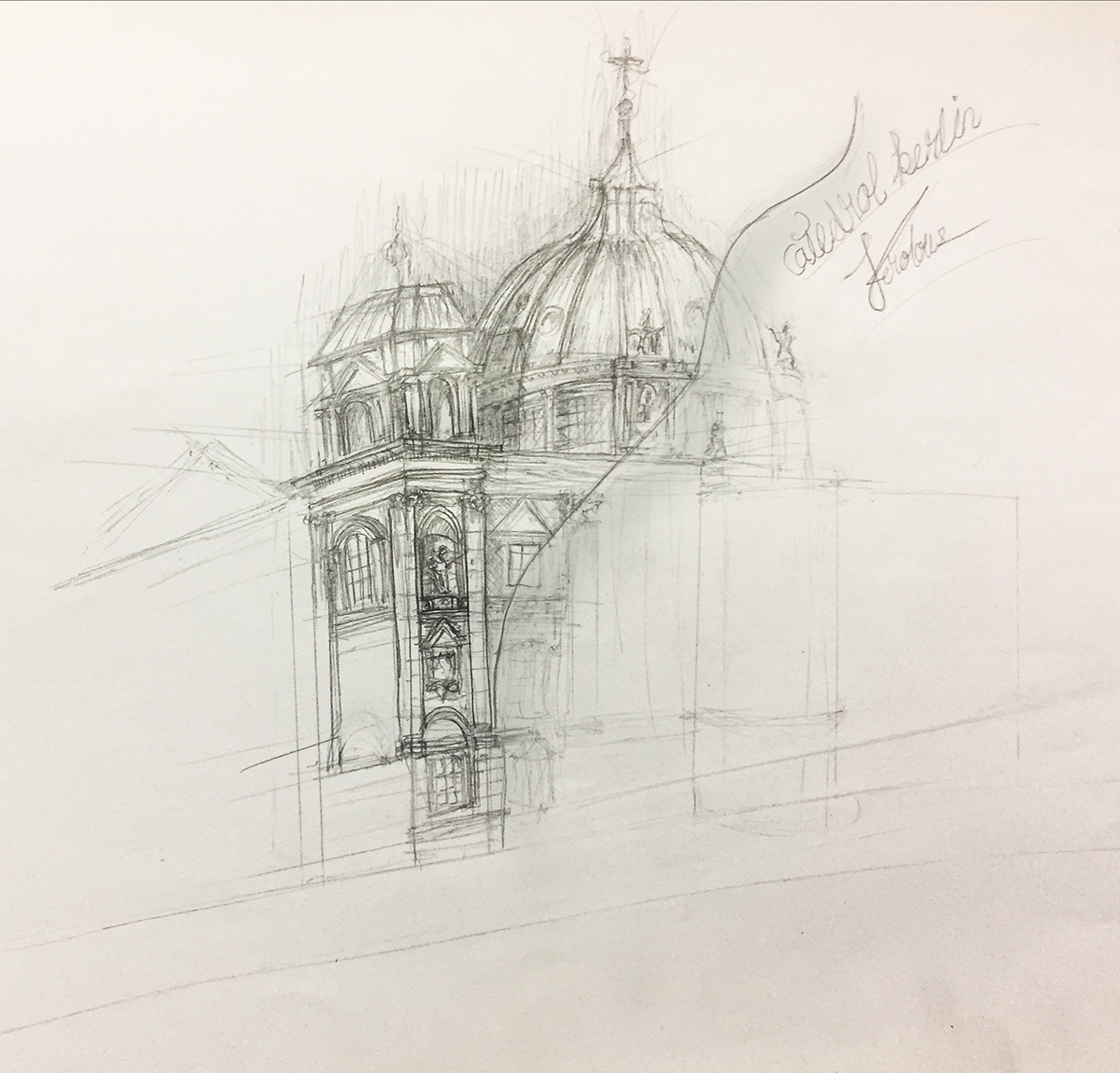 Sketch For Catedral Berlin On Student Show