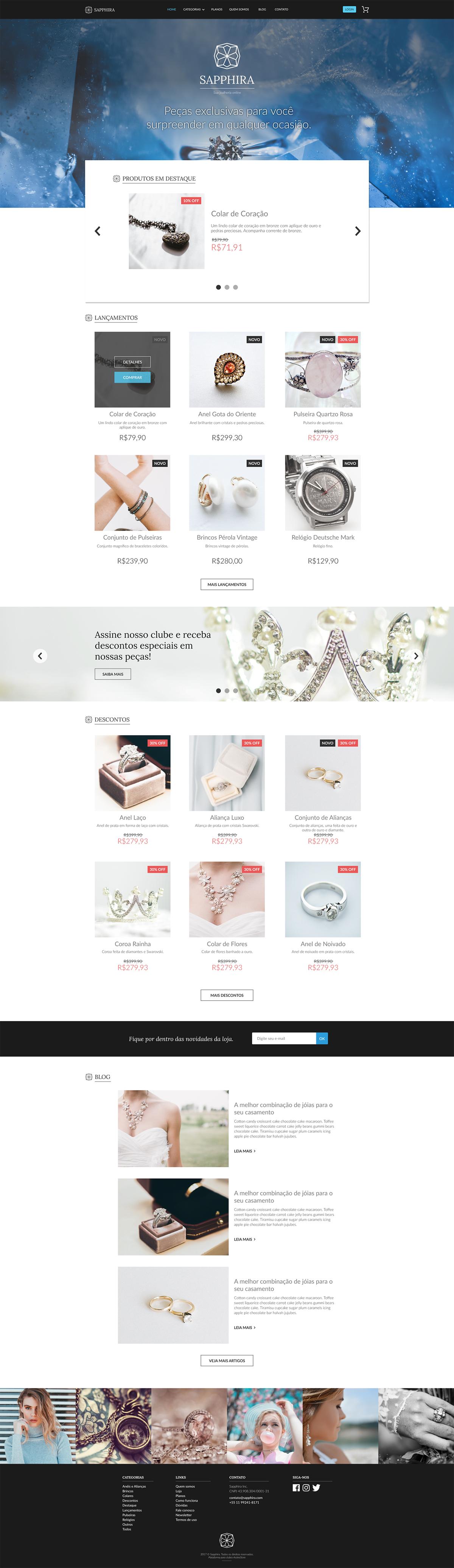 store Store layout Store Layout Design inspiration Webdesign Web Design  site template Sapphira design