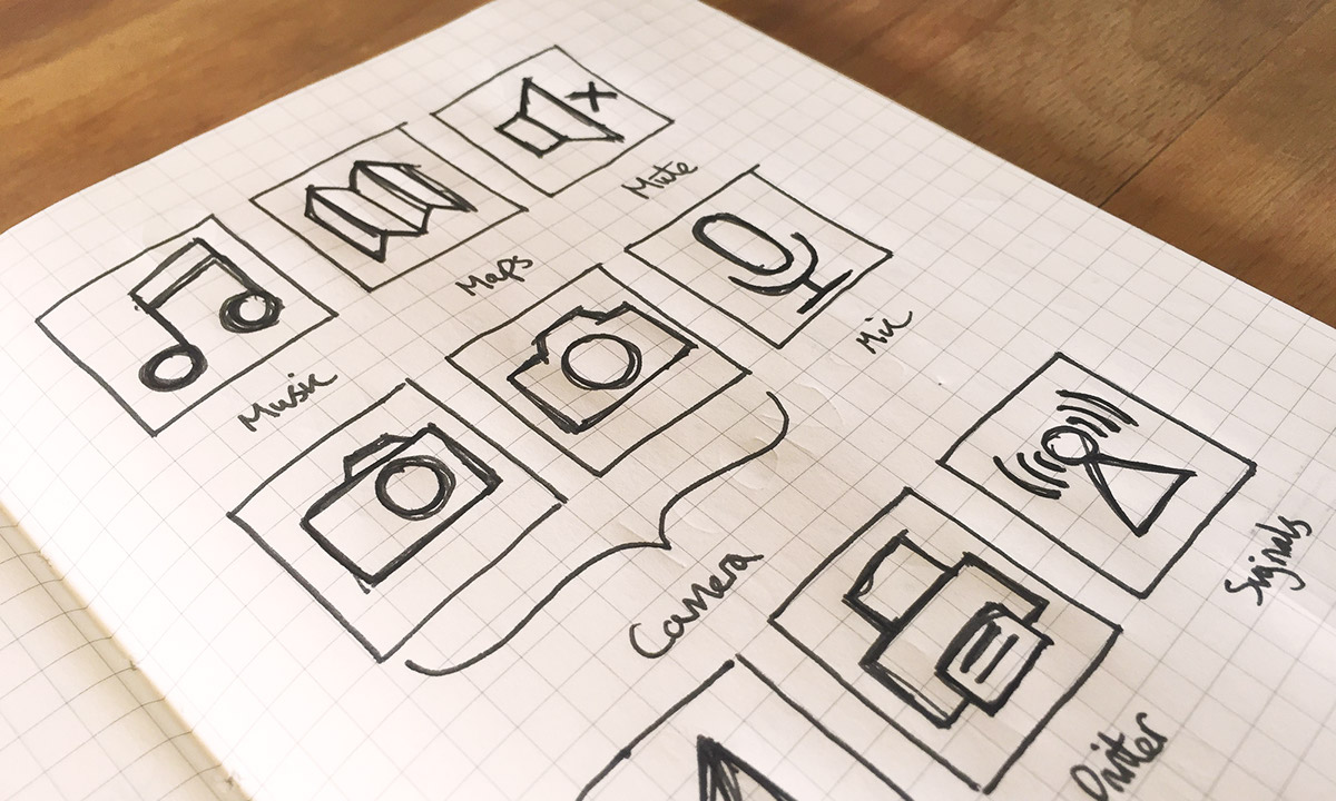 Icon icons iconography iconography design pictograms symbols free download free resource set icon set set of icons Bryn Taylor user interface UI