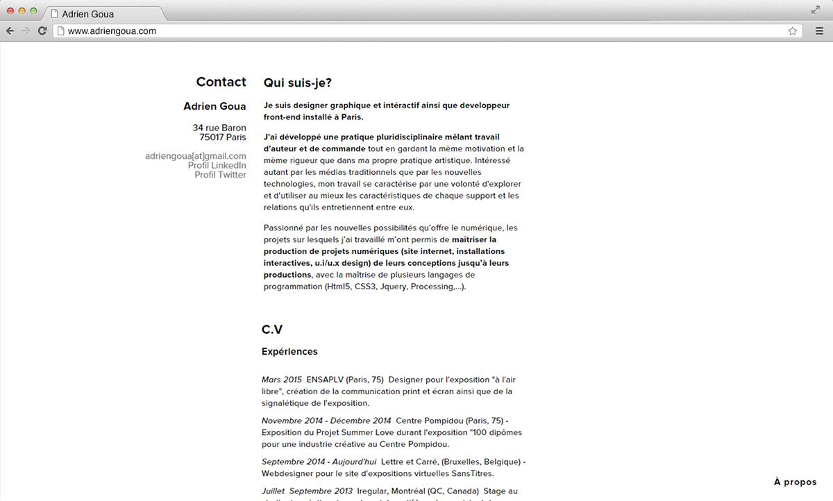 portfolio big pictures gallery Webdesign One Page