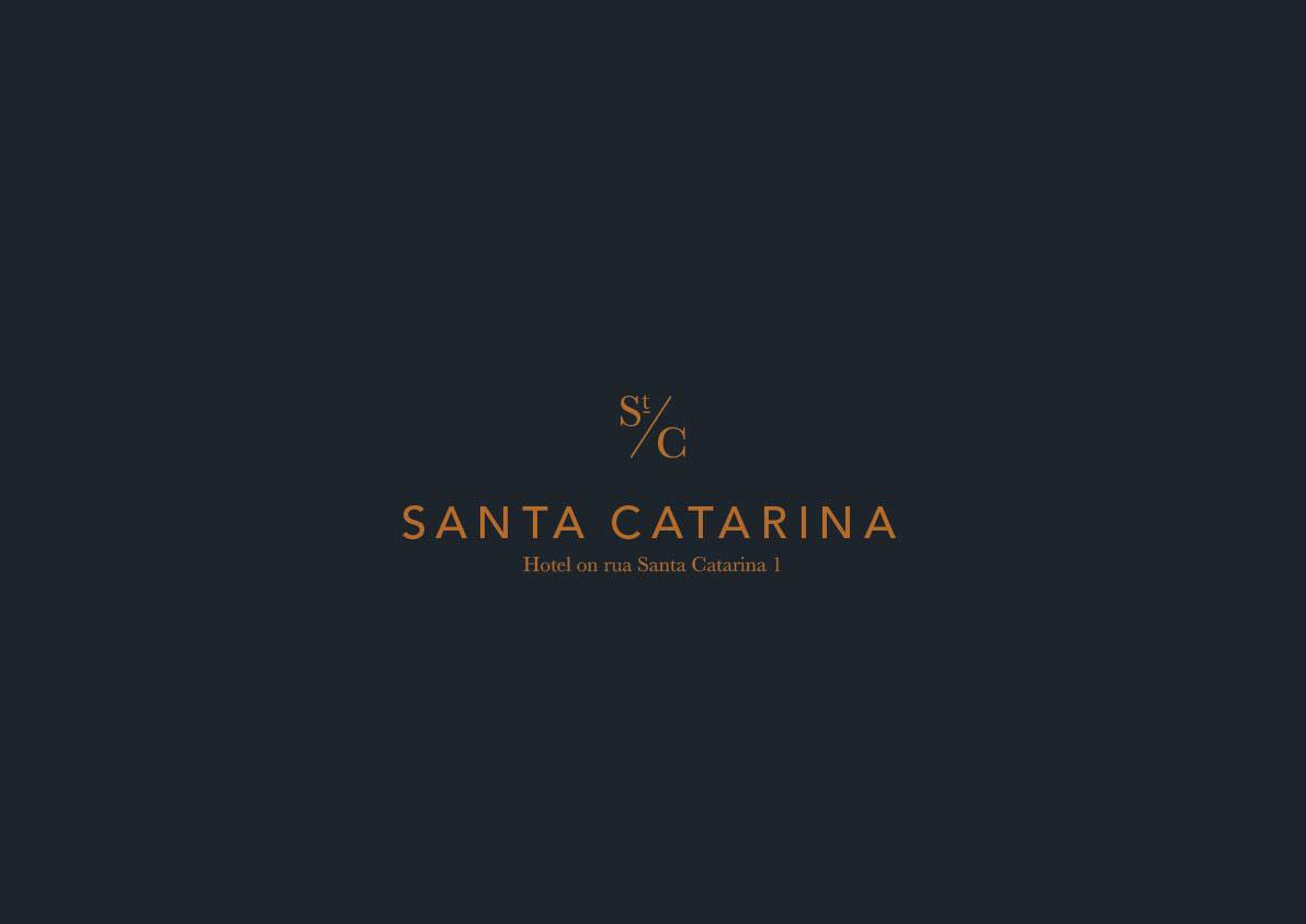 logo hotel restaurant Lisbon Portugal Santa Catarina elegant simple clean