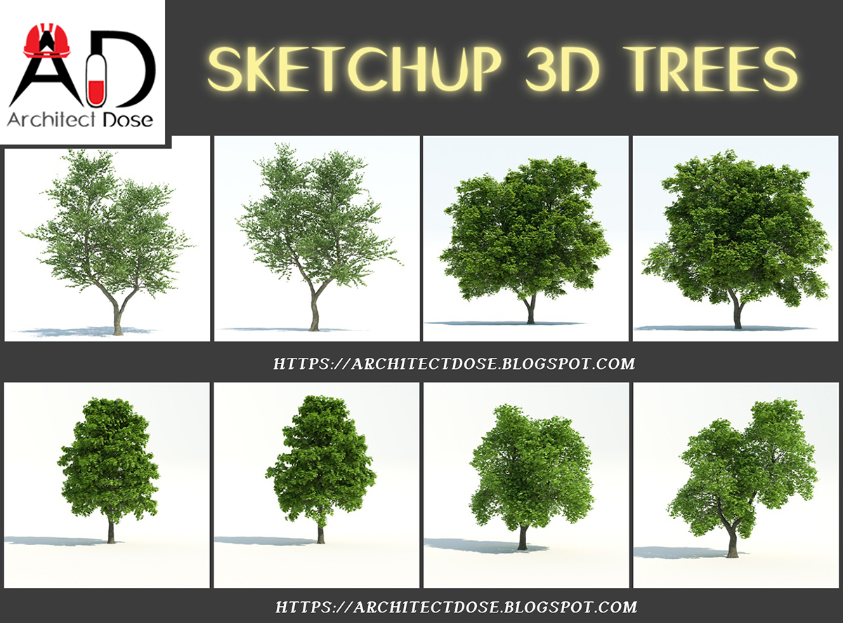 SKETCHUP 3D TREES on Behance