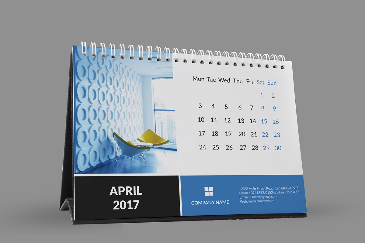 Corporate Calendar 2017 : Corporate desk calendar on student show