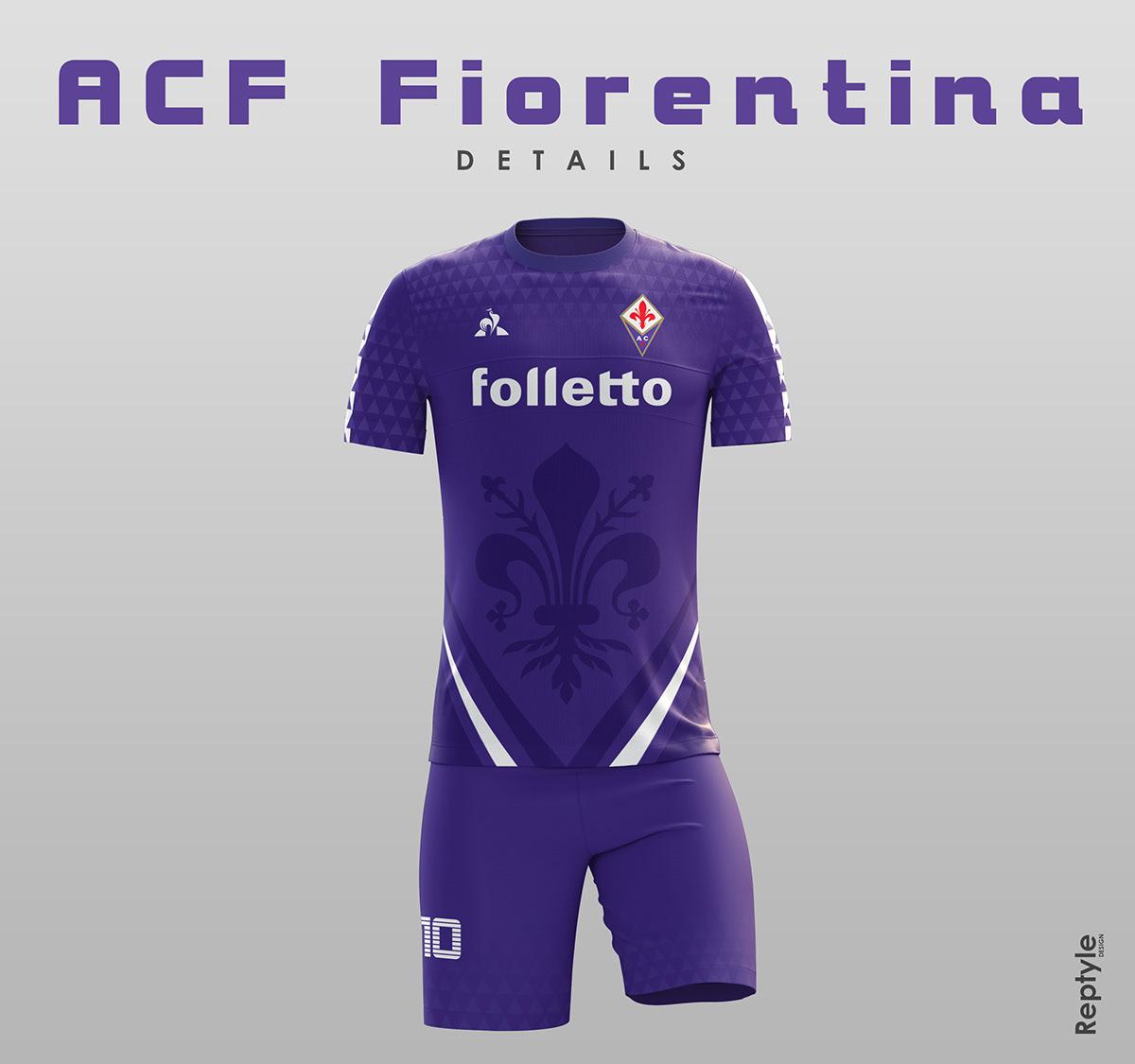 Save to Collection. Follow Following Unfollow. ACF Fiorentina soccer kit  concept a2d8111e9