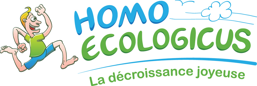 Joyful Homo ecologicus character and logo